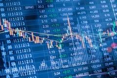 exposição dobro da carta do mercado de valores de ação, dados do mercado de valores de ação no diodo emissor de luz Imagens de Stock Royalty Free
