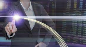 Exposição dobro dos executivos no mercado de valores de ação com moderno imagens de stock