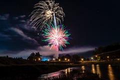 Exposição dos fogos-de-artifício de Prattville Fotografia de Stock