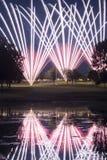 Exposição dos fogos-de-artifício do campo de golfe fotografia de stock