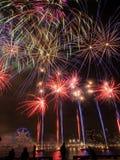 Exposição dos fogos-de-artifício do dia de Austrlia Imagens de Stock