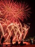 Exposição dos fogos-de-artifício do dia de Austrlia Fotografia de Stock Royalty Free