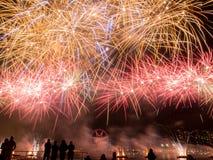 Exposição dos fogos-de-artifício do dia de Austrlia Fotos de Stock