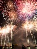 Exposição dos fogos-de-artifício do dia de Austrlia imagem de stock