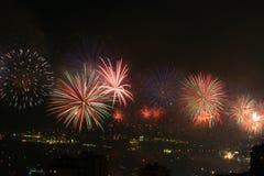 Exposição dos fogos-de-artifício do festival de Jounieh Imagem de Stock