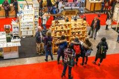 Exposição dos ofícios em Bonaventure Place em Montreal foto de stock