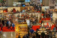 Exposição dos ofícios em Montreal em dezembro imagem de stock