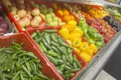 Exposição dos vegetais Fotografia de Stock Royalty Free