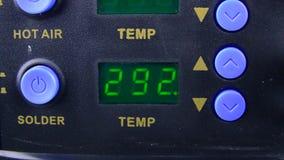 Exposição eletrônica da estação da solda quando a temperatura filme