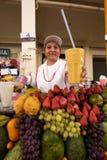 Exposição exótica dos frutos imagens de stock royalty free