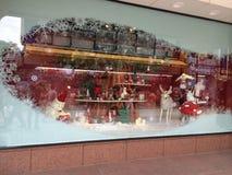 Exposição fresca da janela do Natal Fotos de Stock Royalty Free