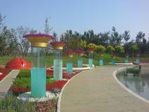 Exposição hortícola internacional de China Jinzhou imagem de stock