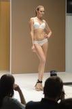 Exposição internacional do outono do desfile de moda da expo de Moscou Lingrie 5a do roupa interior, do roupa de banho, do desgas Imagem de Stock