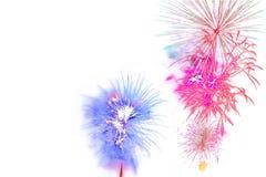 Exposição isolada colorida bonita do fogo de artifício para o hap da celebração foto de stock