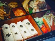 Exposição japonesa do modelo do alimento de Bento da lancheira do alimento Foto de Stock Royalty Free