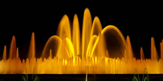 Exposição longa da fonte mágica de Barcelona Imagem de Stock