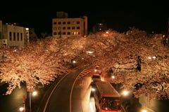 Exposição longa de uma estrada em Hitachi Japão Imagem de Stock