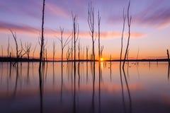 Exposição longa do nascer do sol de Manasquan Foto de Stock