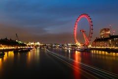 Exposição longa do olho de Londres Imagens de Stock Royalty Free
