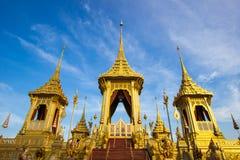 Exposição na cerimônia real da cremação, terra cerimonial de Sanam Luang, Banguecoque, Tailândia em November25,2017: Crematório r fotos de stock royalty free