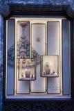 Exposição próxima acima de uma janela de Bulgari em Roma Foto de Stock