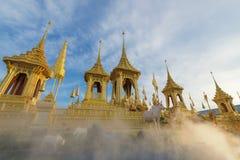 Exposição real da cremação de seu rei Bhumibol Adulyade da majestade imagens de stock royalty free