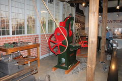 Exposição simulada de Glover Machine Works Foto de Stock