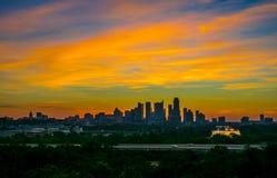 Exposição surpreendente do clube do parque de Zilker das cores no céu Austin Imagens de Stock Royalty Free
