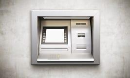 Exposição vazia da máquina do ATM Fotografia de Stock