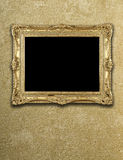 Exposição vazia no frame do ouro Foto de Stock Royalty Free