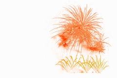 exposição vermelha bonita dos fogos-de-artifício pelo ano novo feliz a da celebração Fotografia de Stock Royalty Free