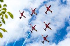 Exposição vermelha das setas do dia de Austrália Fotografia de Stock