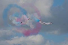 Exposição vermelha Team Fairford Air Show RAF Airport do avião das setas Fotos de Stock