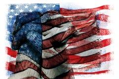 Exposições múltiplas da bandeira do Estados Unidos da América Fotos de Stock