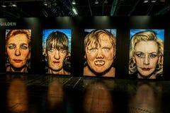 Exposi??o dos retratos de Bruce Gilden no Photokina fotos de stock royalty free