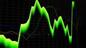 Exposi??o financeira do pre?o do gr?fico do mercado de valores de a??o e da carta de barra no fundo escuro imagens de stock royalty free