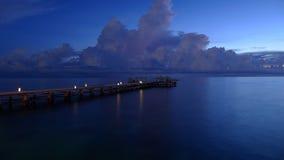 Exposición azul del embarcadero alta Fotos de archivo libres de regalías