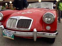 Exposición de coches retros y viejos Fotos de archivo libres de regalías
