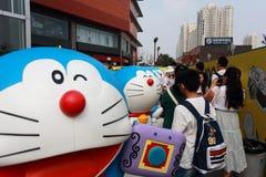 Exposición de Doraemon Imagen de archivo libre de regalías