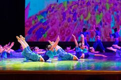 Exposición de enseñanza de clasificación Jiangxi del logro de los niños de la prueba de la academia de la danza de Pekín de la ch fotos de archivo libres de regalías