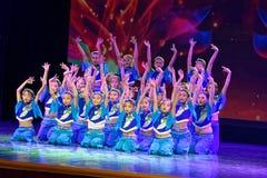 Exposición de enseñanza de clasificación Jiangxi del logro de los niños de la prueba de la academia de la danza de Pekín de la ch foto de archivo libre de regalías