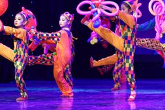 Exposición de enseñanza de clasificación Jiangxi del logro de los niños de la prueba de la academia de la danza de Pekín del parq Foto de archivo libre de regalías