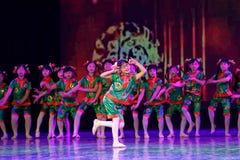 Exposición de enseñanza de clasificación Jiangxi del logro de los niños de la prueba de la academia de la danza de Pekín de los v foto de archivo libre de regalías