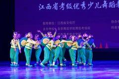 Exposición de enseñanza de clasificación Jiangxi del logro de los niños de la prueba de la pequeña del caracol de Pekín academia  imagen de archivo libre de regalías