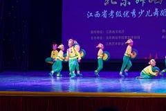 Exposición de enseñanza de clasificación Jiangxi del logro de los niños de la prueba de la pequeña del caracol de Pekín academia  imágenes de archivo libres de regalías
