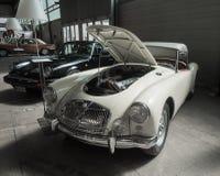 Exposición de la antigüedad y de los coches de deportes Fotos de archivo