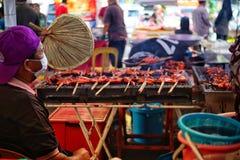 Exposición de la comida de Malasia fotos de archivo libres de regalías