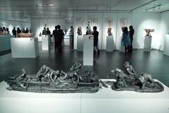 Exposición de la escultura Foto de archivo
