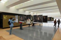 Exposición de la foto en el museo del oro en Bogotá Imagen de archivo