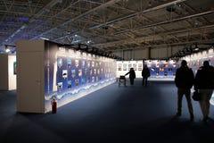 Exposición de la fotografía en 2012 azul grande Fotografía de archivo libre de regalías